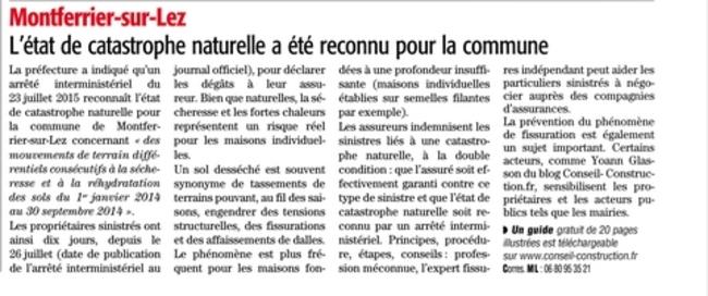 Indemnisation Fissures Catanat Midi Libre Extrait