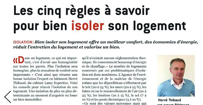 Interview Herv Thibaud Expert LAMY Expertise Isolation Maison